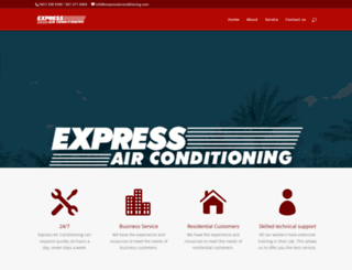 expressairconditioning.com screenshot
