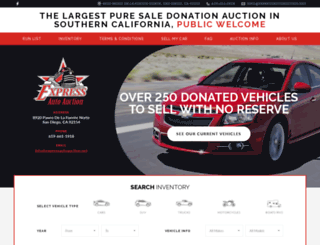 expressautoauction.net screenshot