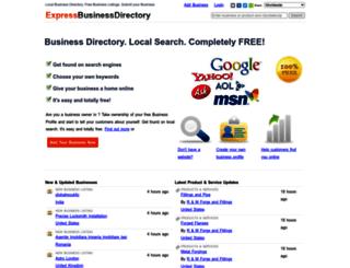 expressbusinessdirectory.com screenshot
