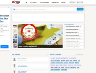 expresscevap.com screenshot