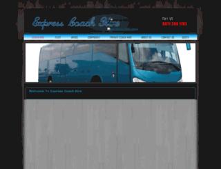 expresscoachhire.co.uk screenshot