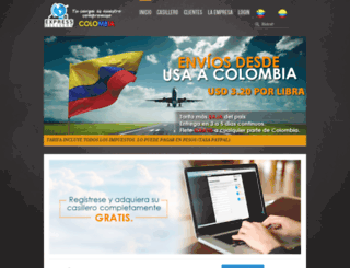 expressdeliverycolombia.com screenshot