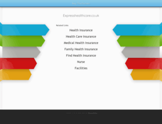 expresshealthcare.co.uk screenshot