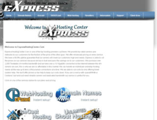 expresshostingcenter.com screenshot