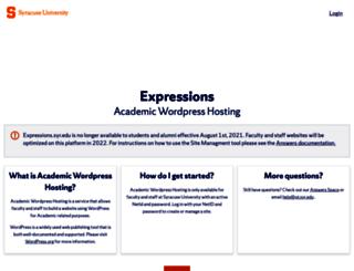 expressions.syr.edu screenshot