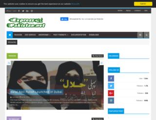 expresspakistan.net screenshot