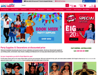 expresspartysupplies.com.au screenshot