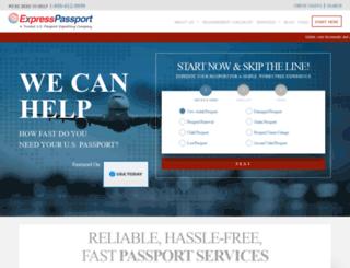 expresspassport.com screenshot
