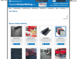 expressrubbermatting.co.uk screenshot