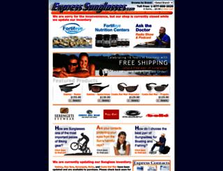 expresssunglasses.com screenshot