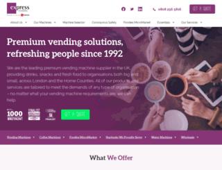 expressvending.co.uk screenshot