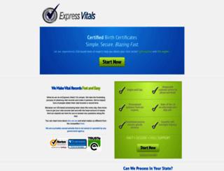 expressvitals.com screenshot