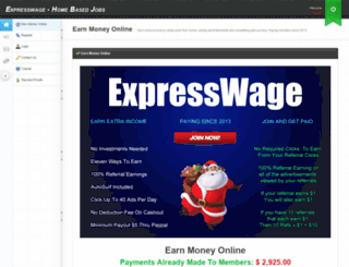 expresswage.com screenshot