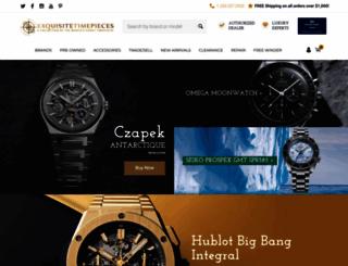 exquisitetimepieces.com screenshot