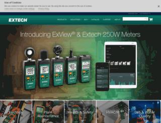extechinstruments.com screenshot