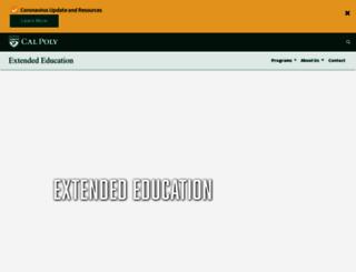 extended.calpoly.edu screenshot