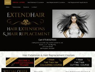 extendhair.co.uk screenshot