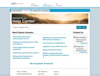 extendhealth.custhelp.com screenshot