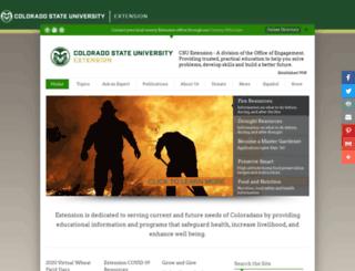 extension.colostate.edu screenshot