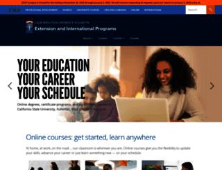 extension.fullerton.edu screenshot