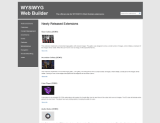 extensions.wysiwygwebbuilder.com screenshot
