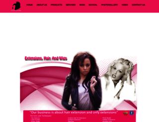 extensionshairandwigs.com screenshot