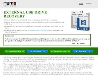 externalusbdriverecovery.com screenshot