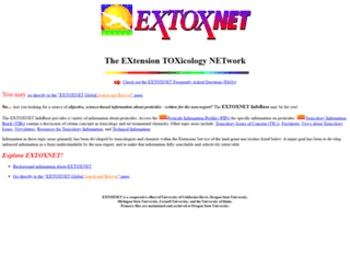 extoxnet.orst.edu screenshot