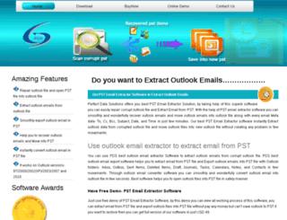 extractoutlookemails.recoveroutlookfile.com screenshot