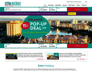 extraholidays.com screenshot