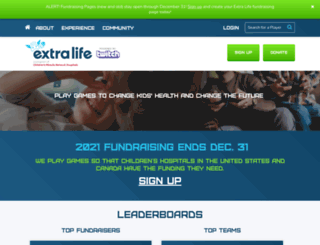 extralife.donordrive.com screenshot