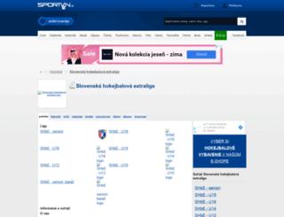 extraligahokejbal.sportvin.sk screenshot