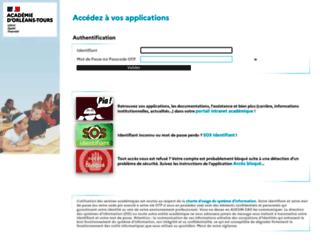 extranet.ac-orleans-tours.fr screenshot