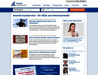 extranet.anwalt-suchservice.de screenshot