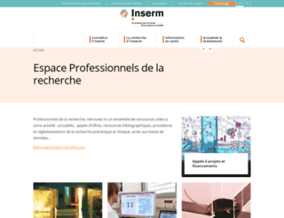 extranet.inserm.fr screenshot