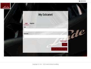 extranet.linde-mh.com screenshot