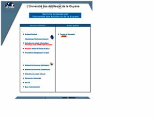extranet.univ-ag.fr screenshot
