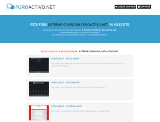 extreme-condicion.foroactivo.net screenshot