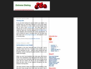 extremedieting.blogspot.com screenshot