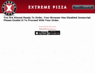 extremepizza.hungerrush.com screenshot