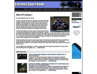 extremesportnews.com screenshot