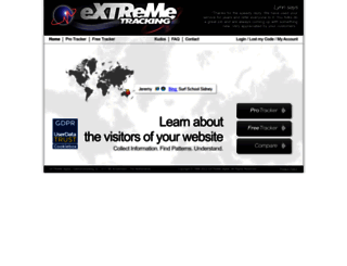 extremetracking.com screenshot
