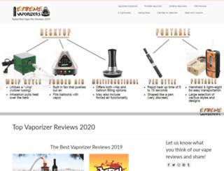 extremevaporizers.com screenshot
