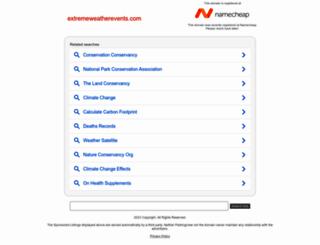 extremeweatherevents.com screenshot