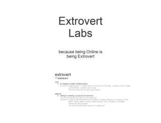 extrovertlabs.com screenshot