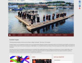 exultatesingers.org screenshot