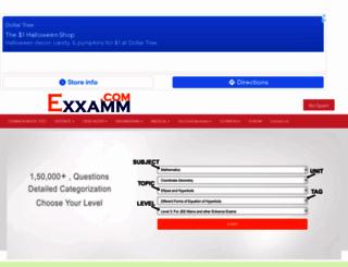 exxamm.com screenshot