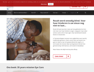 eyecarefoundation.nl screenshot