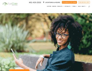 eyecarespecialties.com screenshot