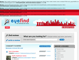 eyefindsingapore.com screenshot
